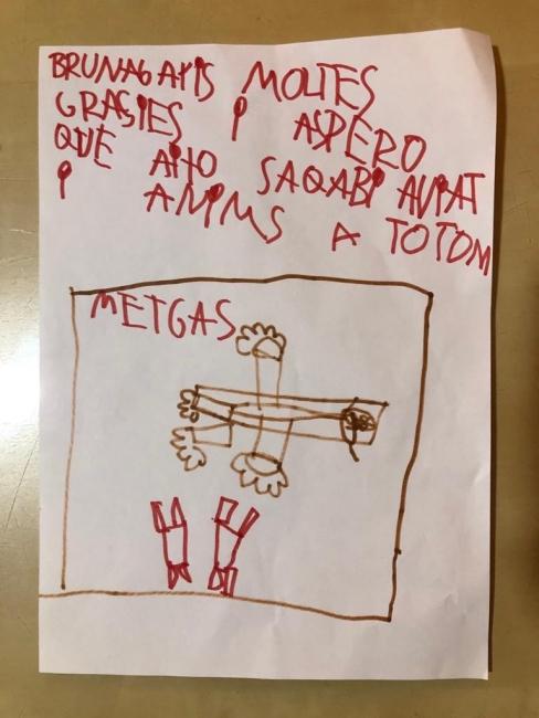 Bruna, 6 anys, Vilafant