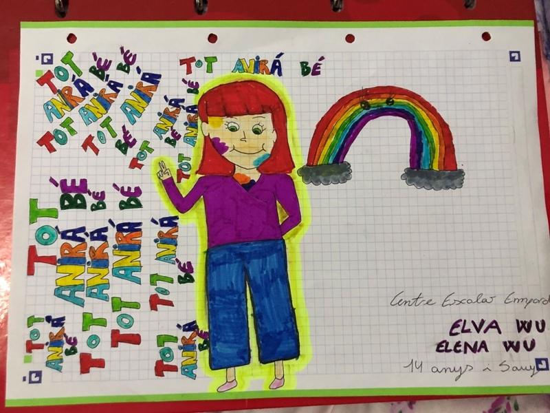Elva i Elena WU, 14 i 5 anys, Centre Escolar Empordà